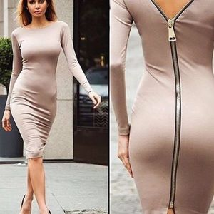 Bodycon Zippered Dress YOU ARE THE PARTY✨